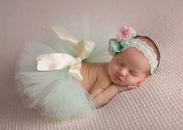 Stage Set Props NZ - 2016 New baby Girls Lace Flower headbands + Tutu Skirts Angel Babies set handmade Newborn flowers children photography Props A5768