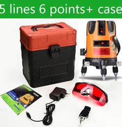 Discount laser cross lines - Wholesale-5line 6Point Cross line laser rotary laser level, Horizontal and Vertical laser line level ,Outdoor mode