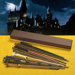 Barato Harry Potter Cosplay Adultos-Atacado Harry Potter Magic Wands Hogwarts Escola Snape / Sirius Black Armas Mágicas Adulto Cosplay Box Packed Halloween Acessório