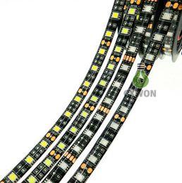$enCountryForm.capitalKeyWord NZ - 12V led strip lights waterproof IP65 300leds flexible RGB LED light strip 5050 black PCB board Led light strip red blue tape lights
