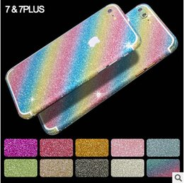 $enCountryForm.capitalKeyWord Canada - Luxury Bling Diamond Glitter Sticker Full Body Skin Cover Shiny Front Back Side For iPhone 7 SE 5S 6 6S plus Samsung S6 S7 edge with logo