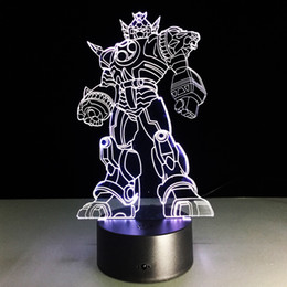 led christmas lights transformer 2019 - Transformer 3D Optical Illusion Lamp Night Light DC 5V USB Charging 5th Battery Wholesale Dropshipping Free Shipping dis