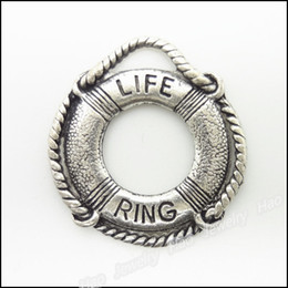 ring slides NZ - Wholesale Jewelry Accessories Life Ring Shape Alloy Vintage Charms 22*24mm 1194