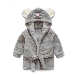 Girls flannel clothes online shopping - Pajamas Baby Animal Plush Bathrobe Baby pc boy girl soft velvet robe pajamas coral children dress baby clothes