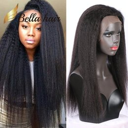 Brazilian virgin hair glueless wig online shopping - 100 Brazilian Human Hair Full Lace Wig Natural Color Kinky Straight for Black Women Brazilian Hair Lace Wigs