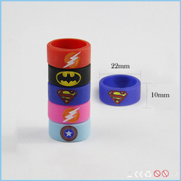 China Nice style pretty feeling super hero silicone vape band anti-slip silicone ring for ecig mod free shipping suppliers