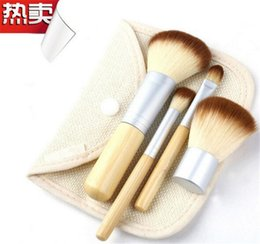 $enCountryForm.capitalKeyWord Canada - 150pc Makeup Brushes 4Pcs Set Kit Beautiful Professional Bamboo Elaborate make Up brush Tools With Case zipper bag button bag D647