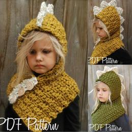 $enCountryForm.capitalKeyWord NZ - Lovely Children dinosaur winter windproof hats with scarf set for kids crochet Knitted soft warm cap Handmade baby winter beanies