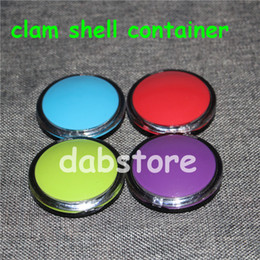 $enCountryForm.capitalKeyWord Australia - clam shell Wax Containers silicone box big rubber wax can Silicon container wax jars dab storage dabber jar custom bho oil vape DHL