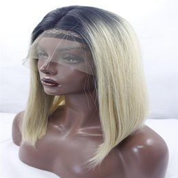 $enCountryForm.capitalKeyWord Australia - lace front wigs mixed blonde ombre silky straight synthetic lace front wigs with dark roots natural heat resistant fiber hair blond kabell