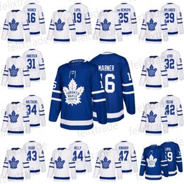 16 Mitchell Marner 19 Joffrey Lupul 25 James Van Riemsdyk 29 William  Nylander 2018  31 32 34 42Toronto Maple Leafs Hockey Jerseys 98192c891