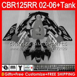 Cbr125 Fairing Australia - 23Colors Body +Tank For HONDA CBR125 Repsol grey R CBR 125R 125RR CBR125R 02 03 04 05 06 80NO52 CBR125RR 2002 2003 2004 2005 2006 Fairing