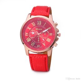 Gift Tags For Christmas Canada - men quartz watches 12 colors sports students couples watch Geneva Leather watch For Christmas gifts, birthday gifts Free DHL Fedex UPS