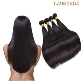 Grade 8A Brazilian Straight Hair 4 Bundles Unprocessed Peruvian Indian Malaysian Cambodian Human Hair Weaves UP 2 Years Life Can Bleach on Sale
