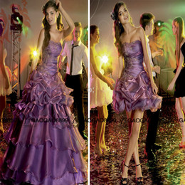 $enCountryForm.capitalKeyWord Canada - Charming Brazil Girl Party quinceanera dresses Sexy Backless ruffles skirt detachable two pieces purple 15 sweet girls dress