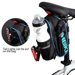 water bottle bags NZ - INBIKE Bicycle Saddle Bag With Water Bottle Pocket Waterproof MTB Bike Rear Bags Cycling Rear Seat Tail Bag SX510
