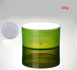 Green Plastic Jars Australia - 300G green plastic cream jar for cream ,gel facial scrub body scrub mask cream container ,300g green large cosmetic container
