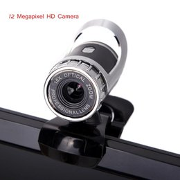 Wholesale New USB Megapixel HD Webcam Camera Web Cam Digital Video Webcamera with Microphone MIC for Computer PC Laptop Black