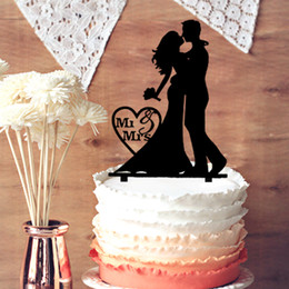 $enCountryForm.capitalKeyWord Canada - Wedding Cake Toppers Bride Taking Flowers and Groom Kiss Silhouette with Mr & Mrs in Heart Shaped