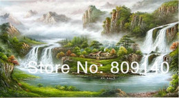 Discount feng shui office wall art Feng Shui oil painting on canvas Chinese  Fortune Basin Artwork