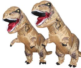 tv adults free Canada - SX1020 free shipping light and easy to wear T REX inflatable dinosaur mascot costume for adult to wear