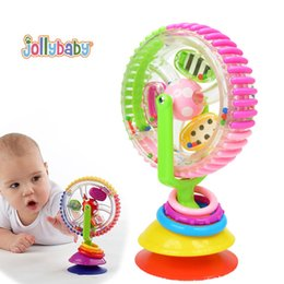 jollybaby baby rattles colorful ferris rotating wheel with suction cups bebek early development musical creative baby toys rotating ferris wheel on sale