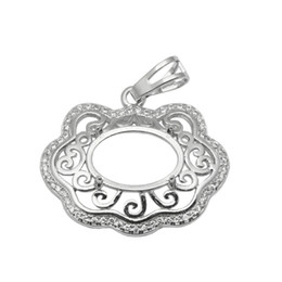 $enCountryForm.capitalKeyWord Canada - Beadsnice 9x13 Oval Stone Pendant Semi-mount Setting Sterling Silver Handmade Accessories Blank Pendant Base Cloud Shaped ID 34064