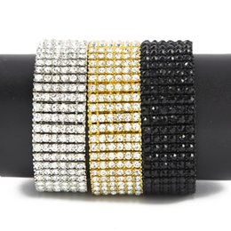 StyliSh men bracelet online shopping - Iced Out Rows Bracelet Fashion Stylish Steampuk Style Hip Hop Chain New Arrival Men Iced Out Jewelry High