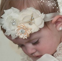 Discount baby girl hair designs - 2016 Baby flower Headband Solid Color Girl Children Baby Hair Hairband Accessories Elasticity Headband 15 kinds of desig