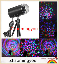 YON EU US Plug New RGB 3W Crystal Magic Ball Laser Stage Lighting For Party Disco DJ Bar Bulb Lighting Show from tool mounting manufacturers