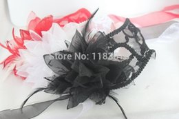 $enCountryForm.capitalKeyWord NZ - Side Calla Lily Flower Masks Lace Hollow Scottish Women Halloween Venice Dance Party Half Face Mask 10pcs lot Free Shipping