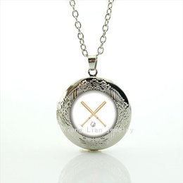 Newest desigN alloy online shopping - New Design High Quality Fashion jewelry sport Style locket necklace Newest mix sport team accessory present for friends NF098