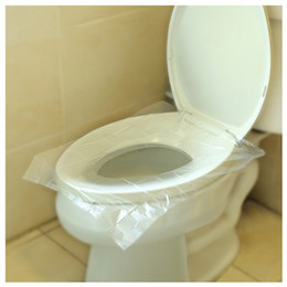 22G Disposable Toilet Pad 40*48cm PE Film Universal Waterproof Toilet Seat  Covers Single Sheets Pack Hotel Toilet Travel Portable