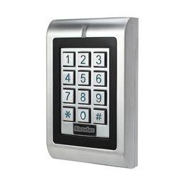 Опт Водоустойчивая двойная клавиатура управлением доступом реле автономная вандал IP66 напольная дверь открытая клавиатура 1100 потребителей 125khz карточки близости