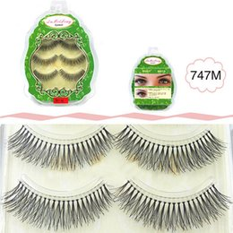 Wholesale 747 faux Human Hair False Eyelash pairs box Fashion Lash Blink Black Full Strip Fake Lashes faux human hair false lashes