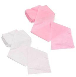 Práctico 10Pcs belleza del masaje impermeable desechable no tejido de cama Tabla comprende las hojas y salón de belleza Dedicado Blanco Rosa 80x180cm en venta