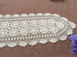 100% Handmade Table Overlays, Hand Crochet Table Runner, Crocheted Table  Topper For Home Decor ~ Oval Crochet Pattern Aa004
