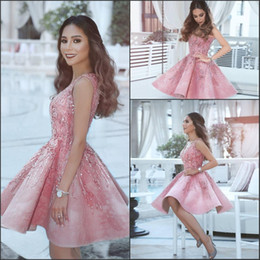 pink girls tops 2019 - Sweetheart Short Homecoming Dresses 2017 White Top with Blush Pink Skirt Knee Length Sexy Outdoor Cocktail Gowns Girl Pr