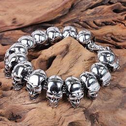 $enCountryForm.capitalKeyWord NZ - 210mm Skull Charm Men's Hand Bracelet 316L Stainless Steel Jewelry Biker Wristband Punk Skulls Motorcycle Men's Hand Bracelet