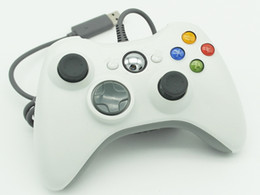 Xbox Pc Controllers Canada - Hot selling USB Wired Joypad Gamepad white Controller For Microsoft for Xbox & Slim for 360 PC for Windows 7