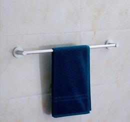 towel rods 2019 - 60cm aluminum towel racks single rod wall mounted towel bar with strong base never rust fade
