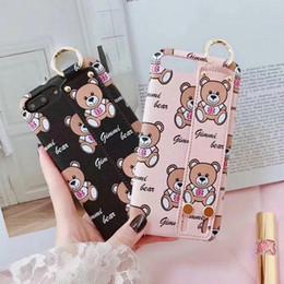$enCountryForm.capitalKeyWord Canada - Cartoon bear leather mobile phone protection shell for iPhone7 6 6S 7plus 8 8plus push-pull bracket phone case