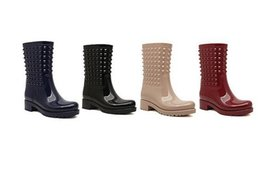 a9e31c2cd Gratis Hong Kong post ~ u030 40 4 colores jelly tachonado botas de lluvia