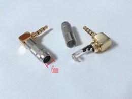 Stereo Solder Australia - 10pcs brass Stereo 4 Pole 3.5mm 90 Degree Plug Angled Jack Cable Solder