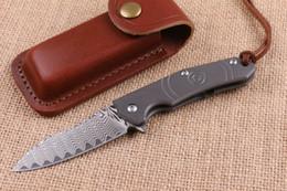 $enCountryForm.capitalKeyWord Canada - High End 2016 New Design Damascus Flipper Folding knife 60HRC Blade TC4 Titanium Handle EDC Pocket folding knife Gift knives