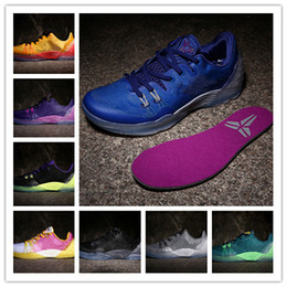super popular 52153 4d878 2016 new arrival KB Zoom Kobe Venomenon 5 low blue white MD kobe 5s Mamba  MEN basketball shoes high quality sports sneakers 7-12