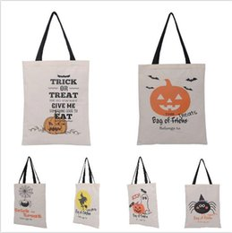 Cloth Pumpkins Canada - 2016 Fashion Halloween canvas bag six style Pumpkin Party Candy storage bag Christmas gift bag Halloween decoration