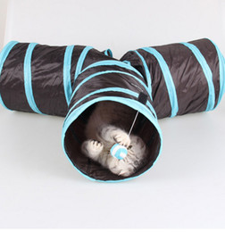 Black Hole Toys Canada - Pet Tunnel Cat Tunnel Toy With Ball Play Fun Toy Tunnel 3 holes foldable