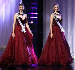 $enCountryForm.capitalKeyWord NZ - Custom Made MISS TEEN USA 2019 Pageant Prom Dresses A-Line Sweetheart Burgundy Velvet Puffy Celebrity Dress Formal Evening Gowns