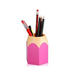$enCountryForm.capitalKeyWord Canada - Wholesale-2016 Portable Pen Vase Pencil Pot Brush Pens Holders Stationery Container Desk Tidy New Arrival